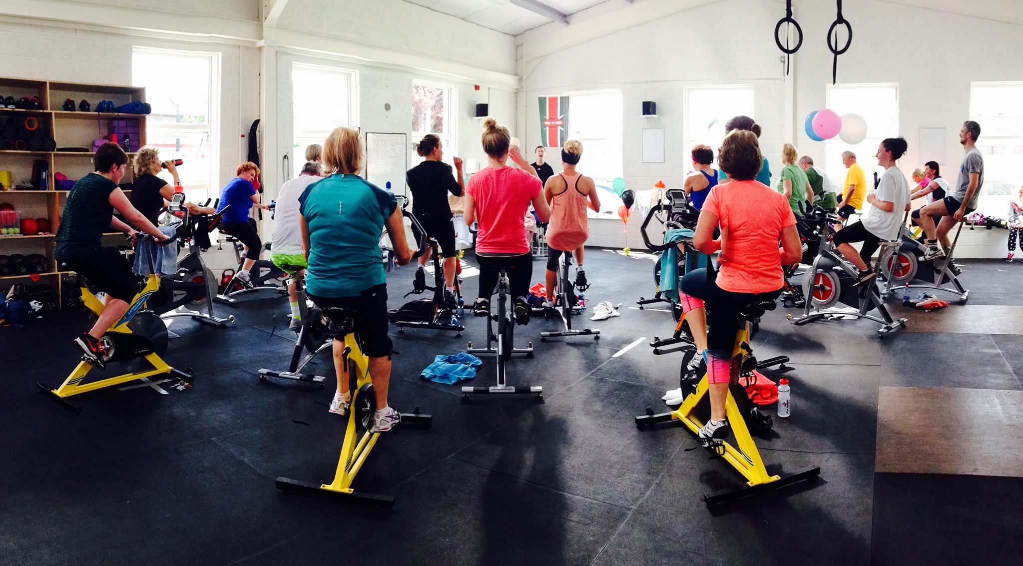 spinning fitness class cork